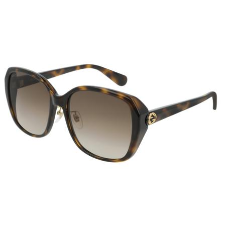 0b73ec7d2a3df Gucci - Gucci GG0371SK 002 Sunglasses Dark Havana Frame Brown Gradient  Lenses 57mm - Walmart.com