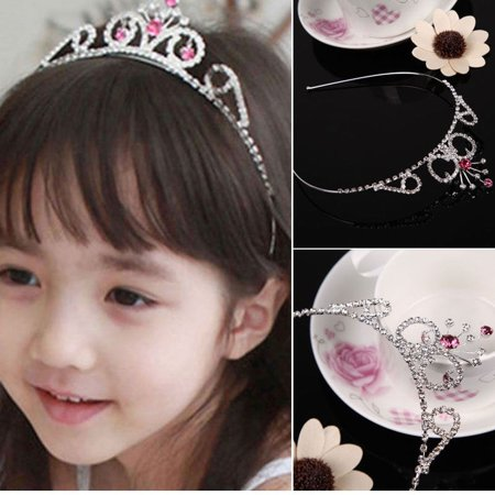 Cute Lively Baby Girls Crown Princess Hair Ribbon Hardback Pretty Bridal Hair Clasp - image 4 of 5