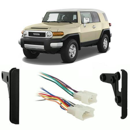 Fits Toyota FJ Cruiser 2007-2010 Double DIN Harness Radio Install Dash Kit (Toyota Fj Cruiser Navigation)