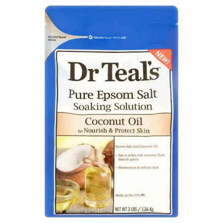 Dr Teals Coconut Oil Epsom Salt Soaking Solution  3 Lbs