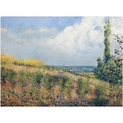 "Trademark Fine Art ""The Approaching Storm"" 1877 Canvas Art by Camille Pissarro"