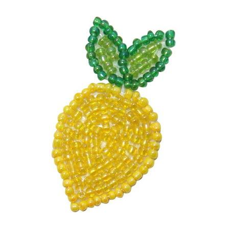 ID 9114 Lemon Fruit Patch Sour Citrus Tree Food Plant Beaded Iron On