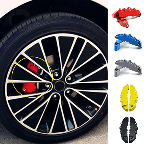 2 Pieces Useful Tool Universal Car Accessories 3D Brake Caliper Covers by Bluelans
