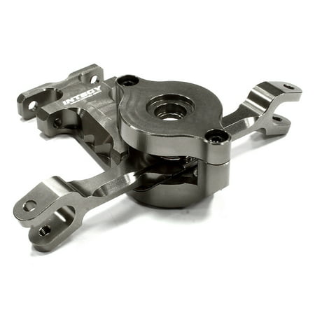 Integy RC Toy Model Hop-ups T4135GREY Billet Machined Alloy Steering Bellcrank for Traxxas 1/10 E-Revo ()