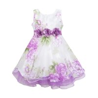 49c9aeaa1ddd6 Product Image Girls Dress Tulle Bridal Lace With Flower Detailing Purple 4