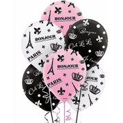 Bridal Shower 'A Day in Paris' Latex Balloons (6ct)