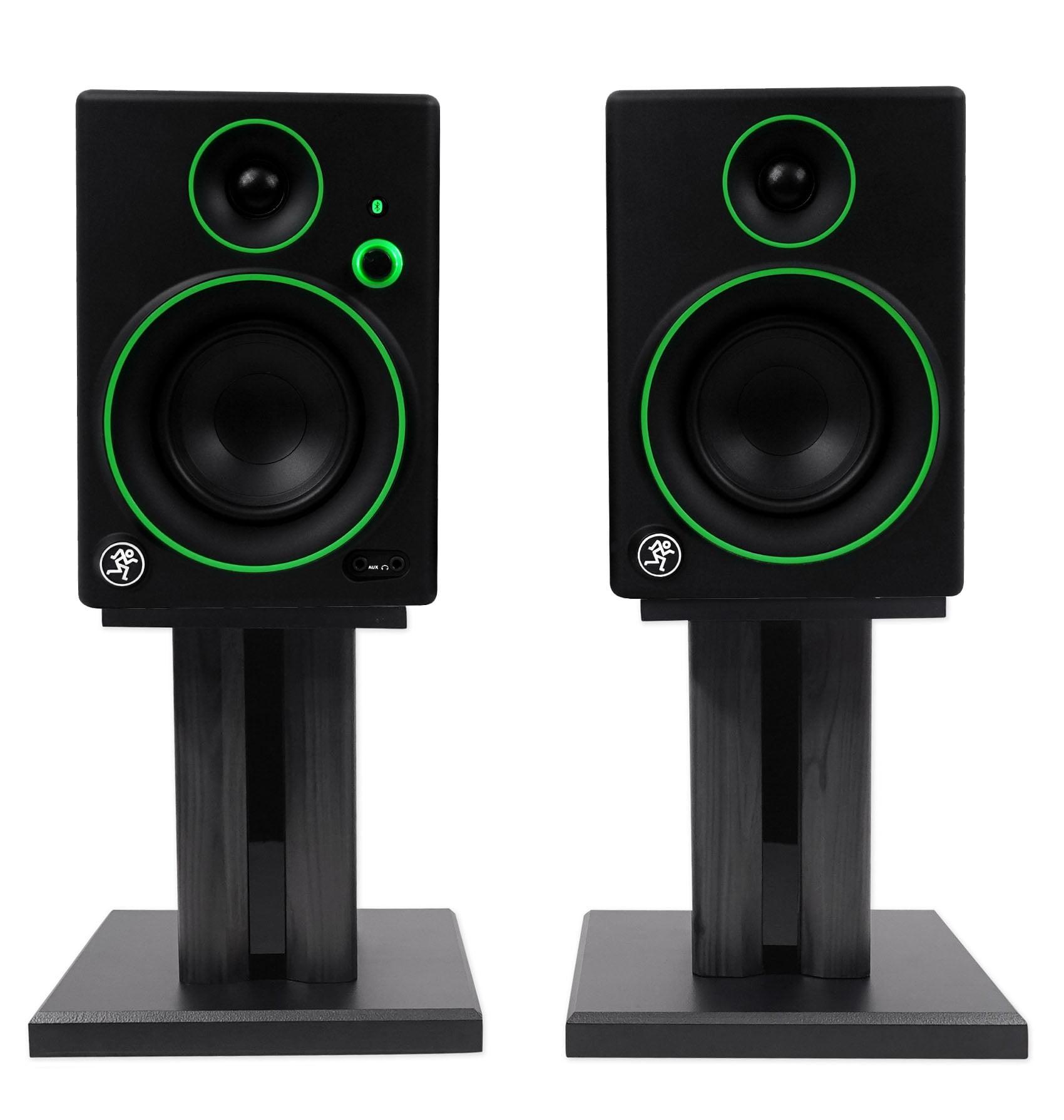 "Pair Mackie CR4BT 4"" Studio Monitors/Computer Speakers w/ Bluetooth+Desk Stands"