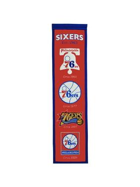 """Philadelphia 76ers 8"""" x 32"""" Premium Heritage Banner"""
