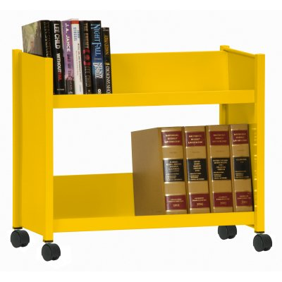 Sloped Shelf Welded Bookcase in Sunshine ()