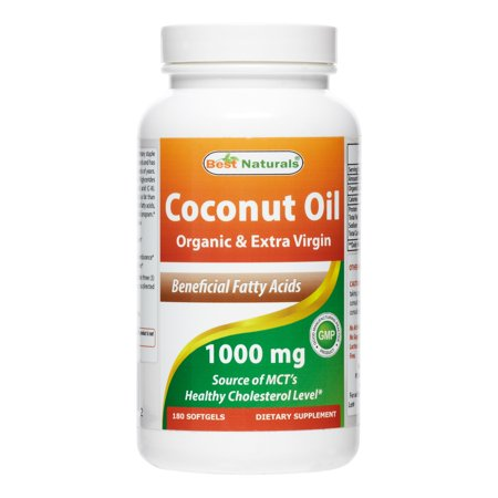 Best Naturals Coconut Oil 1000 mg, 180 Ct