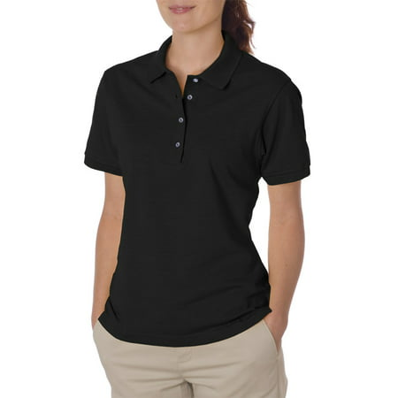 - Jerzees Women's Four Pearl Buttons Collar Sport Polo Shirt