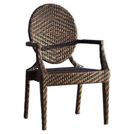 Adriana All-Weather Wicker Dining Chair - Set of 2 - Walmart.com
