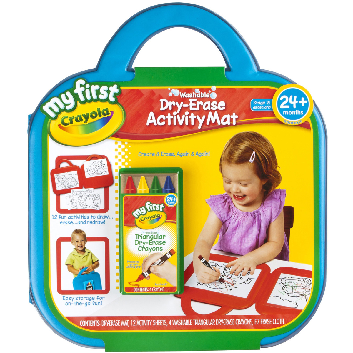 My First Crayola Washable Dry-Erase Activity Mat-