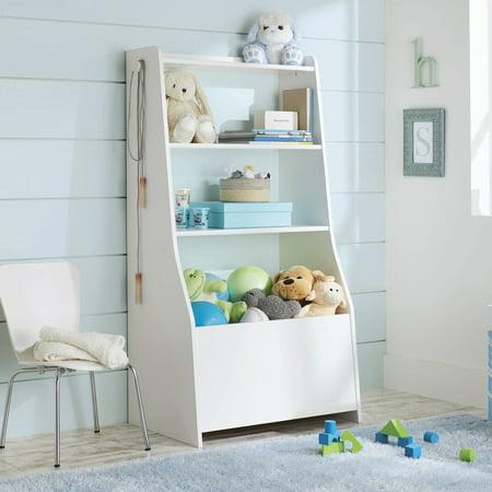 Toy Box Bookshelf - Better Homes & Gardens Cartwheel Bin Bookcase Reversible White Finish
