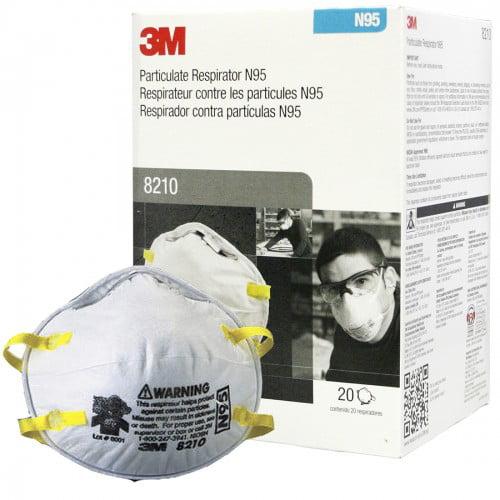 20 Pieces com N95 Mask - Respirator Walmart Particulate 3m