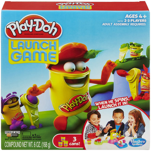 Play-Doh Launch Game with 3 Cans of Dough