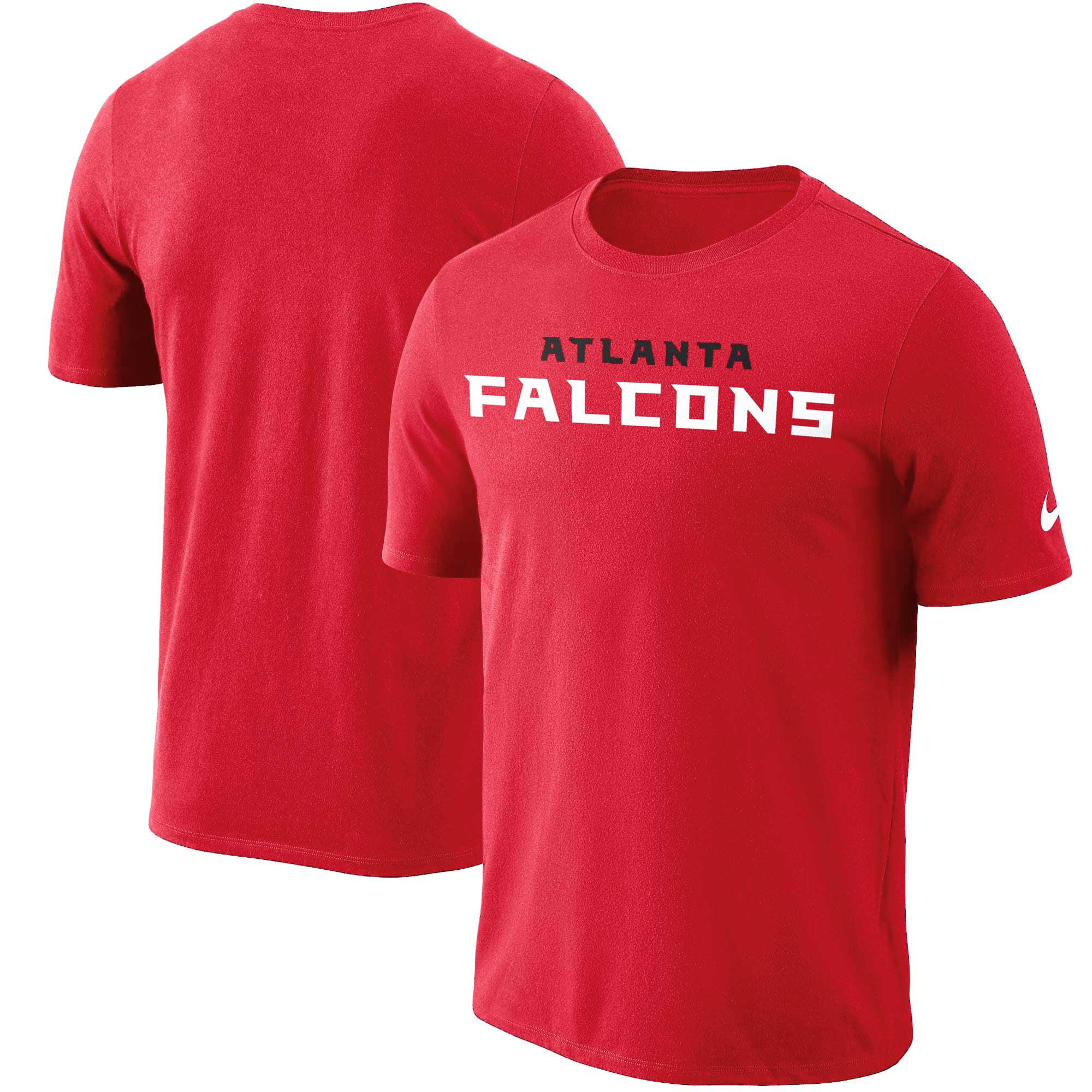 Atlanta Falcons Nike Dri-FIT Cotton Essential Wordmark T-Shirt - Red