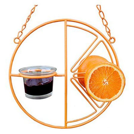 CF-133 Clementine Oriole Feeder, Feeds 2 orange halves, grape jelly, nectar or mealworms By Heath Outdoor -