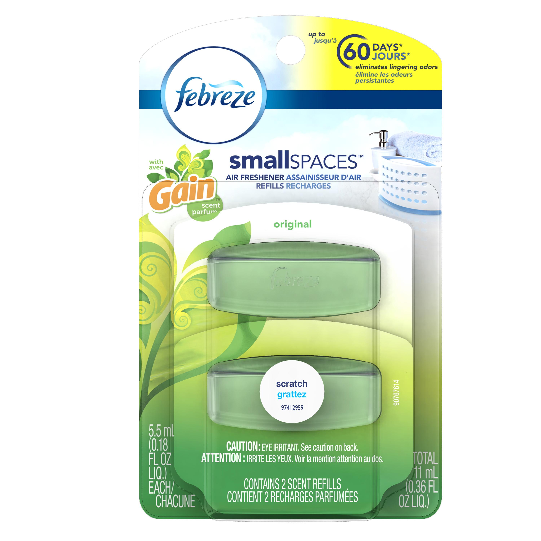 Febreze SmallSpaces with Gain Original Scent Refills Air Freshener ...