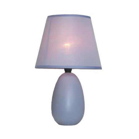Small Oval Ceramic Table Lamp - Blue - image 1 of 1
