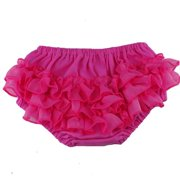 Reflectionz Baby Girls Hot Pink Ruffle Cotton Diaper Cover Bloomers 3-18M
