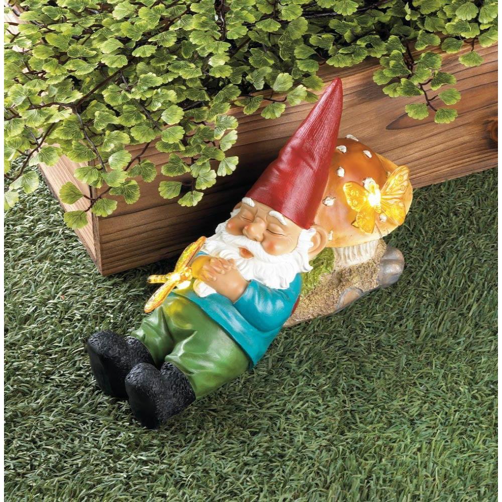Summerfield Terrace 10018274 Solar Powered Sleepy Gnome - image 2 of 3