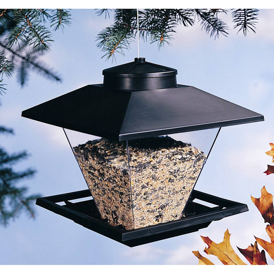 North States 9000 7.5 Lb Black Pop Up Coach Lamp Hanging Bird Feeder
