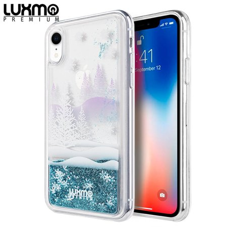 Water Winter Wonderland (For Apple iPhone XR Case, by Insten The Waterfall Liquid Sparkling Quicksand Winter Wonderland TPU Rubber Candy Skin Case Cover For Apple iPhone)