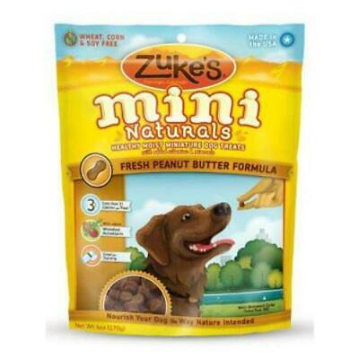 2PK Zukes 6 OZ Mini Naturals Peanut Butter Flavor Dog Treat (Zukes Mini Naturals Peanut Butter)