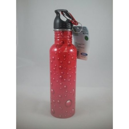 Green Canteen Stainless Steel Water Bottle 25 oz Bubbles Design - Red