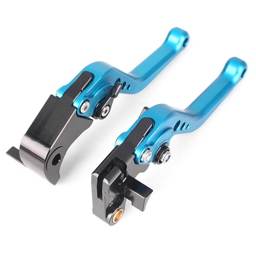 GZYF Pair Short Brake Clutch Levers for SUZUKI 2005-2006 GSXR 1000 / 2006-2010 GSXR 600 750 Blue CNC Aluminum