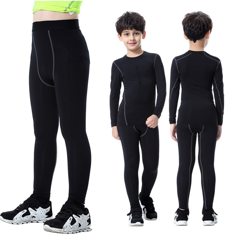 Baby Kids Boys Girls Skin Tight Compression Base Layer Cycling Running Pants Leggings by