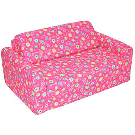 Kids Sofa Sleeper Pink Flower