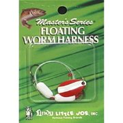 Little Joe Floating Worm Harness Fishing Lure Harness Red White Blade White Float 36 inch length Snell