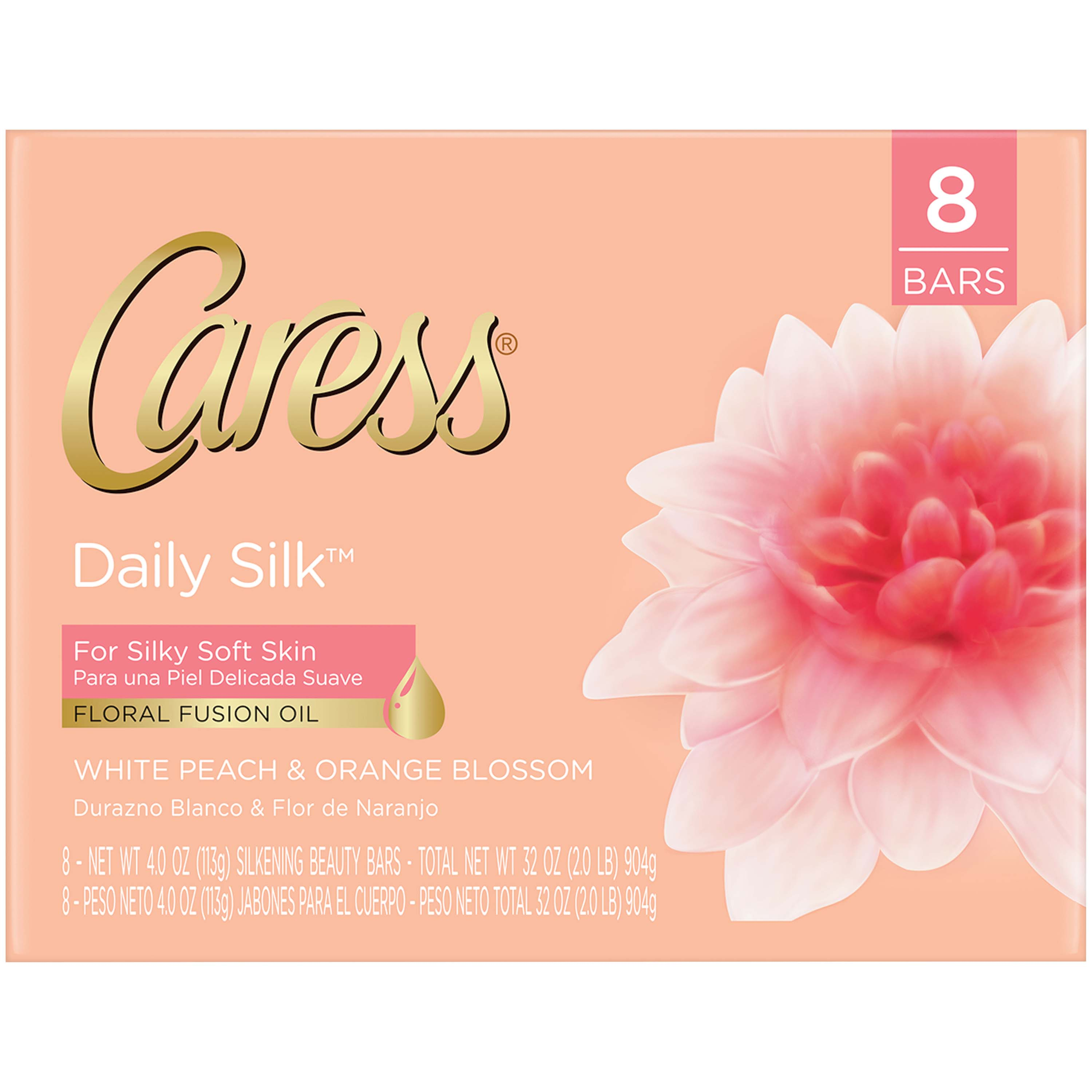 Caress Daily Silk Beauty Bar, 4 oz, 8 Bar
