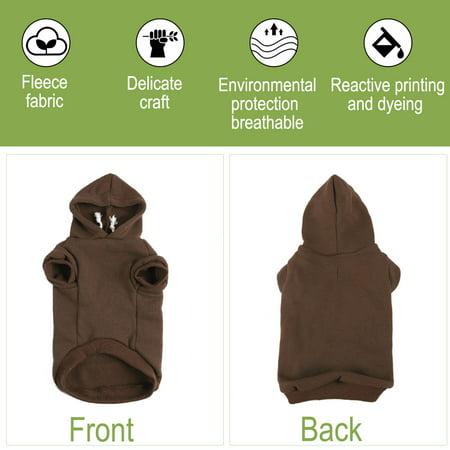 Cotton Dog Winter/Spring/Fall Sweatshirt Hoody Pet Clothes Warm Coat Brown M - image 6 de 7