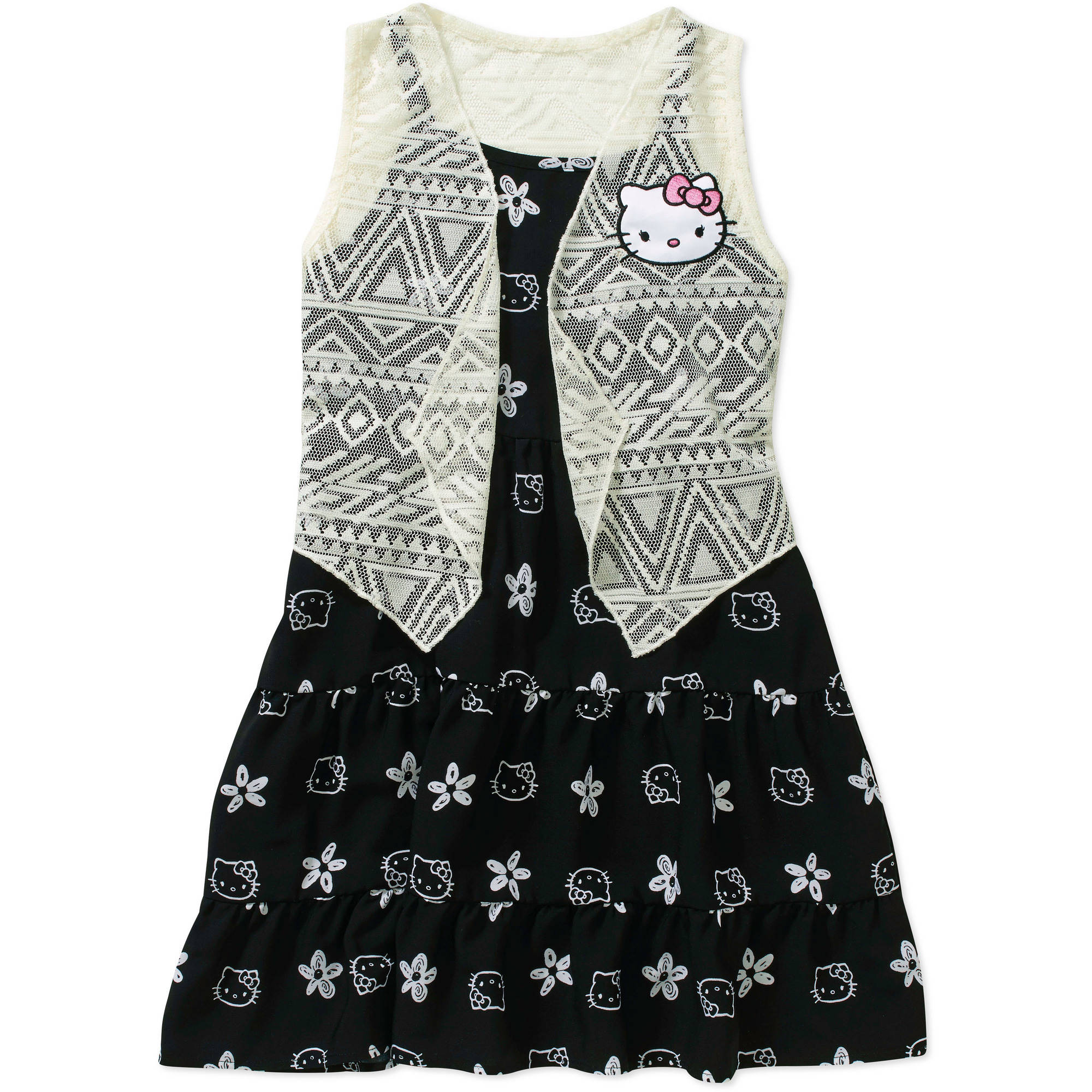 Hello Kitty Girls' Lace Vest Dress