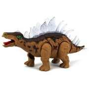 Dinosaur Century Stegosaurus Battery Operated Toy Dinosaur Figure w/ Realistic Movement, Lights and Sounds (Colors May Vary)