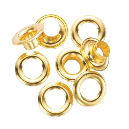 GRIP 78985 Brass Grommet Kit, 12 Pieces