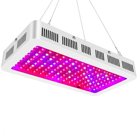 Yosoo 600w/1000w/1200w LED Grow Light with Bloom and Veg Switch 2 Chips LED Plant Growing Lamp Full Spectrum with Daisy Chained Design for Professional Greenhouse Hydroponic Indoor