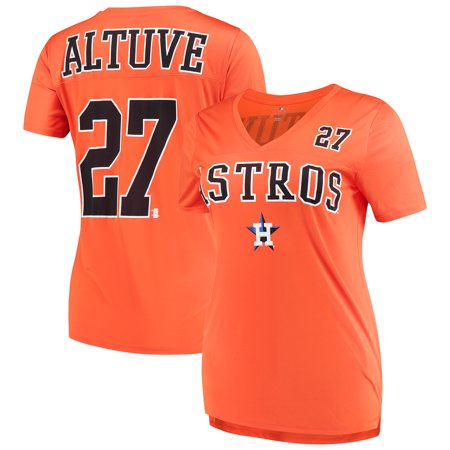 newest f88d7 ff223 Women's New Era Jose Altuve Orange Houston Astros Name & Number T-Shirt