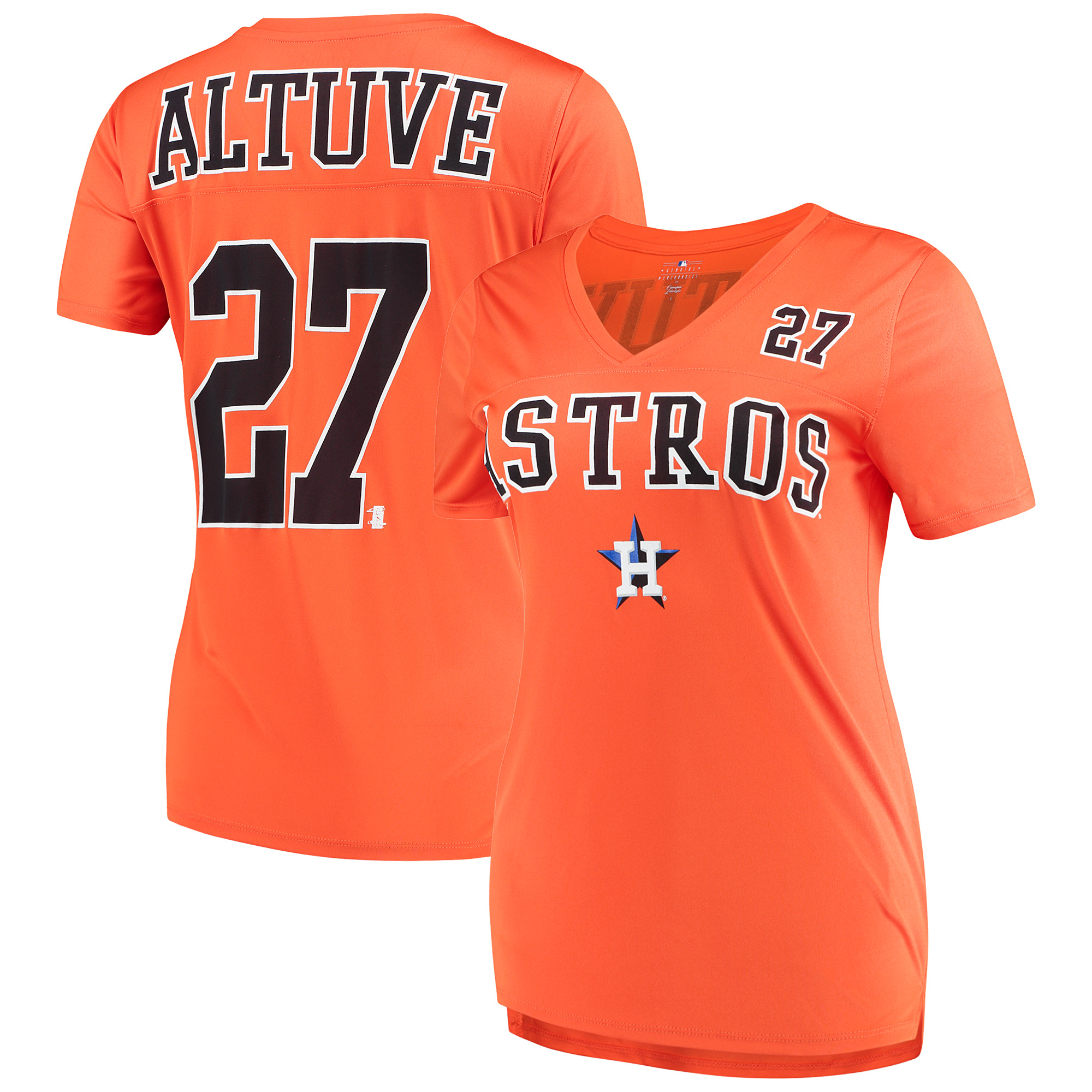 Women's New Era Jose Altuve Orange Houston Astros Name & Number T-Shirt