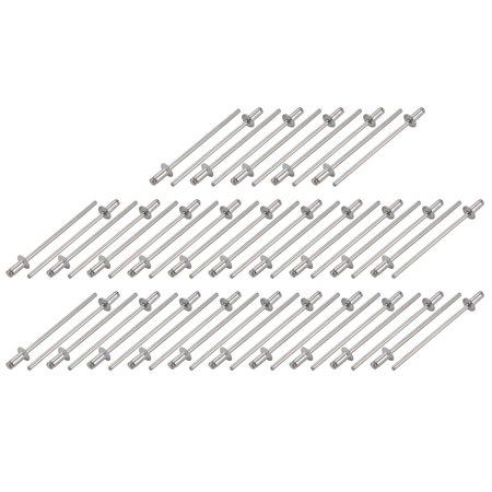 Countersunk Aluminum Rivet - Tasharina M2.4x5mm Aluminum Open End Countersunk Head Blind Rivets Silver Tone 50 Pcs