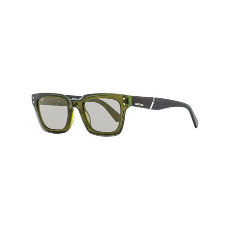 Diesel Rectangular Sunglasses DL0231 95Q Transparent Green/Black 51mm (Diesel Womens Sunglasses)