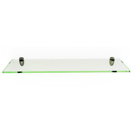 Rectangle Floating Glass Shelf Kit, 8