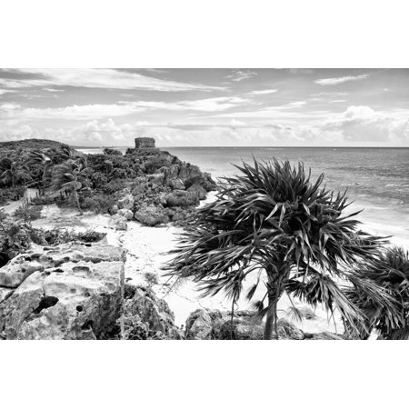 ¡Viva Mexico! B&W Collection - Tulum Riviera Maya III Print Wall Art By Philippe Hugonnard