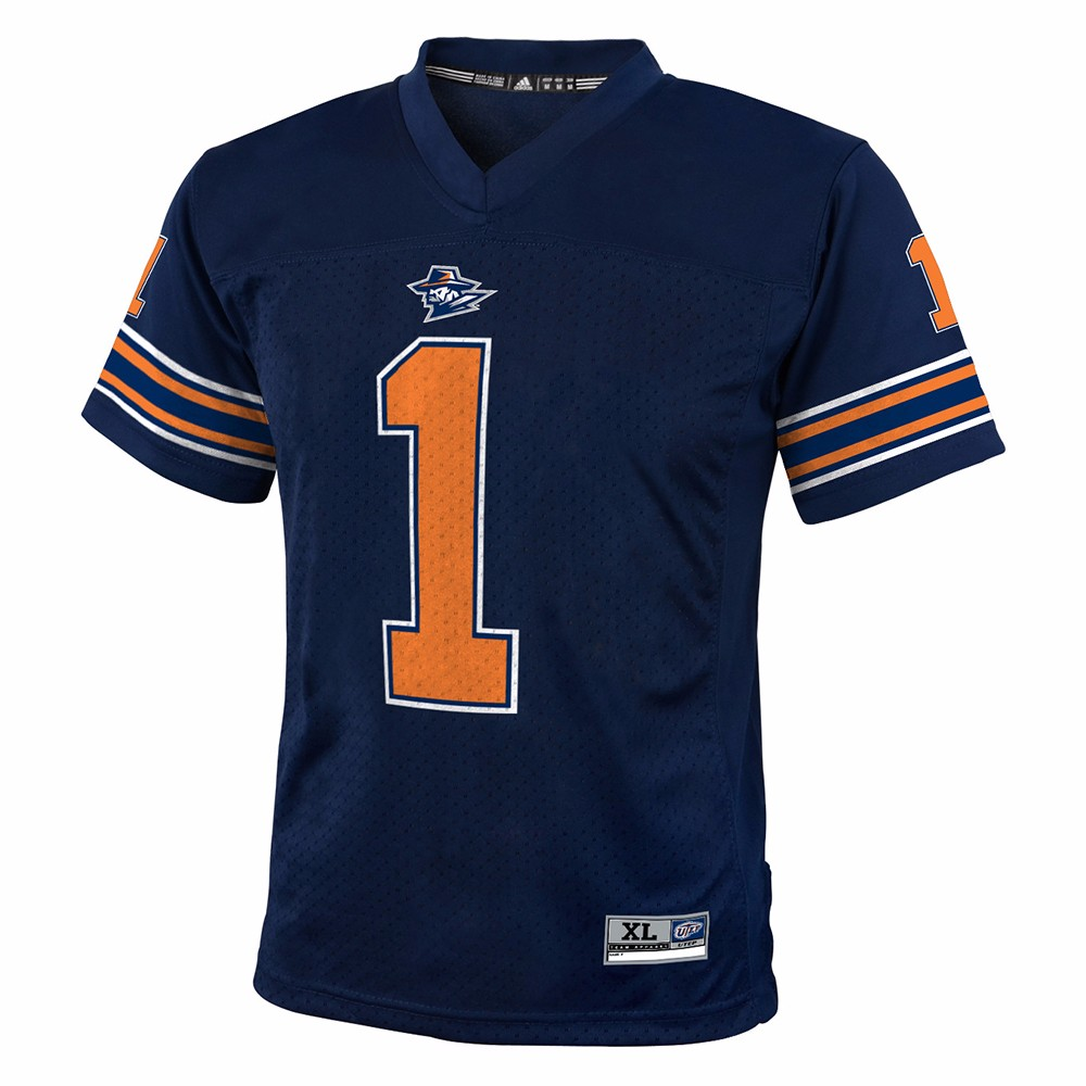 UTEP Miners NCAA Gen 2 Navy Blue Official Home Team Color #1 Replica Football Jersey For Youth