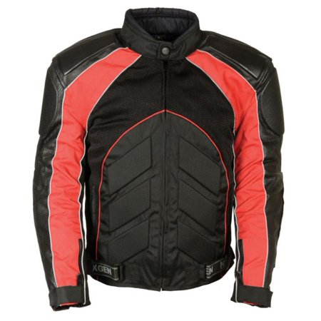 Milwaukee Leather Men's Combo Leather/Textile/Mesh Racer Jacket  (Speed Racer Jacket)