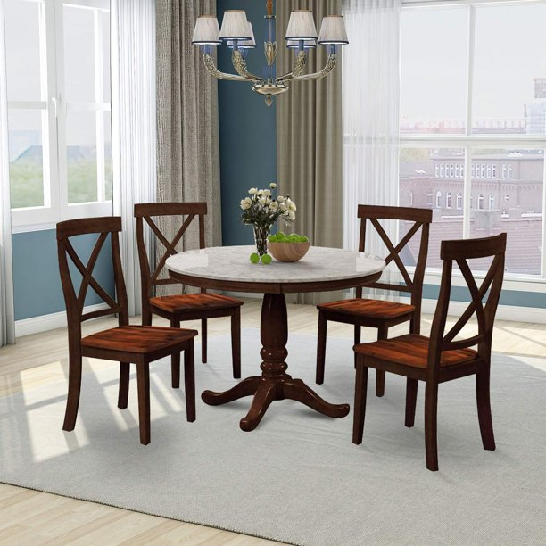 Round Dining Table Set With 4 Chairs, Round Dining Table Sets