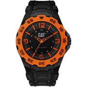 Men's erpillar Motion Black And Orange Rubber Strap Watch LB14121134